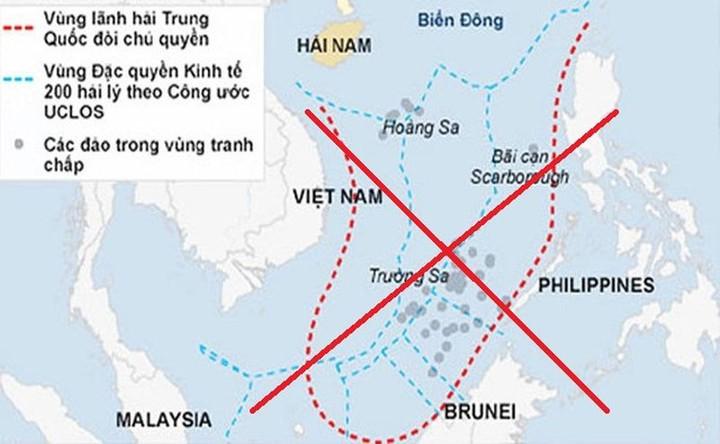 Tấm bản đồ dọc phi pháp của Trung Quốc
